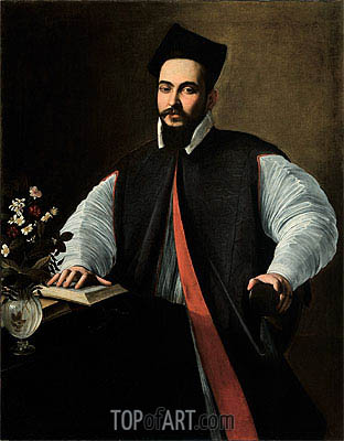 Portrait of Maffeo Barberini, undated | Caravaggio | Painting Reproduction