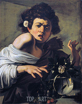 Caravaggio | Boy Bitten by a Lizard, c.1595/00