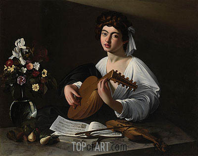 The Lute Player, undated | Caravaggio | Painting Reproduction