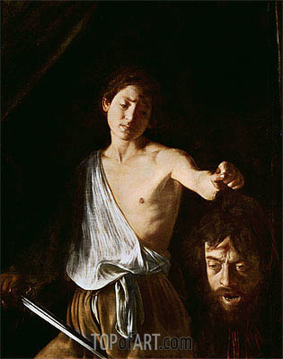 David with the Head of Goliath, 1606 | Caravaggio | Painting Reproduction