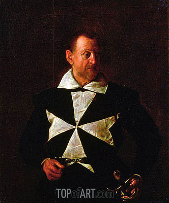 Portrait of Alof de Wignacourt, 1608 | Caravaggio | Painting Reproduction