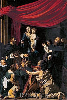 Caravaggio | Madonna del Rosario, 1607