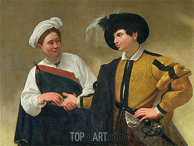 The Fortune Teller (La Buona Ventura), c.1594 | Caravaggio| Painting Reproduction