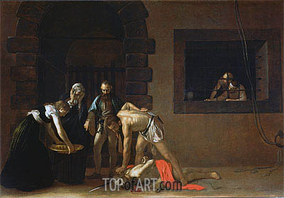 The Decapitation of St. John the Baptist, 1608 | Caravaggio| Painting Reproduction