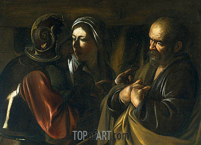 The Denial of Saint Peter, undated | Caravaggio | Gemälde Reproduktion