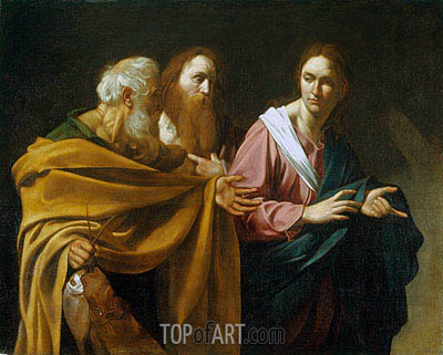 The Calling of Sts Peter and Andrew, c.1602/04 | Caravaggio| Painting Reproduction
