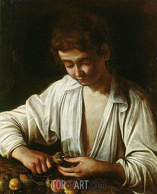 Caravaggio | A Boy Peeling Fruit, c.1592/93