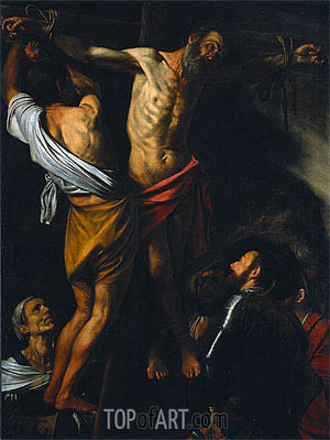 The Crucifixion of Saint Andrew, c.1606/07 | Caravaggio| Painting Reproduction