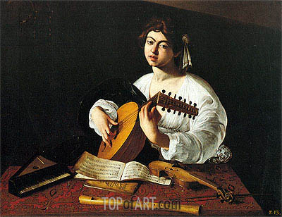Lute Player, c.1600 | Caravaggio | Painting Reproduction