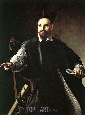 Portrait of Monsignor Maffeo Barberini, 1603 | Caravaggio| Gemälde Reproduktion