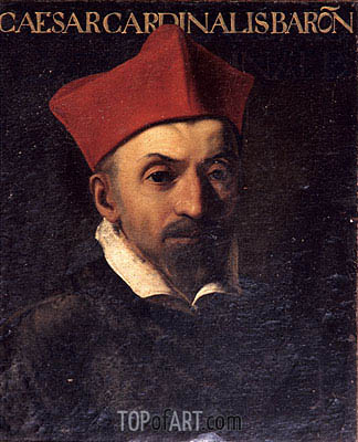 Portrait of Cardinal Cesare Baronio, c.1602/03 | Caravaggio | Painting Reproduction