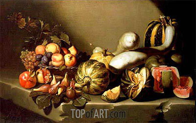 Still Life with Fruit on a Stone Ledge, c.1603 | Caravaggio | Painting Reproduction