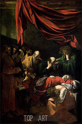 The Death of the Virgin, 1605 | Caravaggio| Gemälde Reproduktion