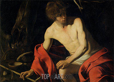 Saintt John the Baptist, c.1605/06 | Caravaggio| Painting Reproduction
