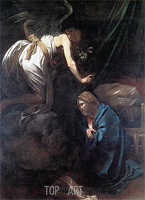 The Annunciation, c.1608/10 | Caravaggio| Painting Reproduction