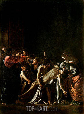 Resurrection of Lazarus, c.1608/09 | Caravaggio| Painting Reproduction