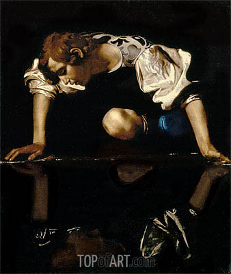 Narcissus, c.1608/10 | Caravaggio| Painting Reproduction