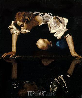 Narcissus, c.1608/10 | Caravaggio | Painting Reproduction