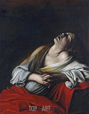 Mary Magdalen in Ecstasy, 1610 | Caravaggio | Painting Reproduction