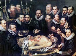 The Anatomy Lesson of Doctor Willem van der Meer in Delft, Undated by Michiel Jansz Miereveld | Painting Reproduction