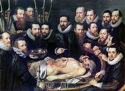The Anatomy Lesson of Doctor Willem van der Meer in Delft,  | Michiel Jansz Miereveld | Painting Reproduction