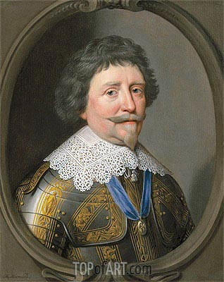 Portrait of Frederik Hendrik, Prince of Orange,  | Michiel Jansz Miereveld | Painting Reproduction
