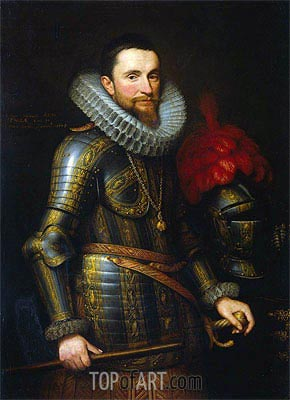 Ambrogio Spinola, Commander of the Spanish Troops in the Southern Netherlands, 1609 | Michiel Jansz Miereveld | Painting Reproduction