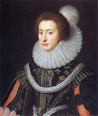 Elizabeth, Queen of Bohemia, c.1623 | Michiel Jansz Miereveld | Painting Reproduction