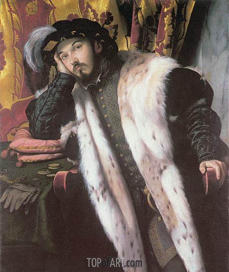 Moretto da Brescia | Portrait of a Young Man, c.1542