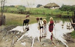Ford, 1901 von Mykola Pymonenko | Gemälde-Reproduktion