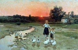 Grow Dark, 1900 von Mykola Pymonenko | Gemälde-Reproduktion
