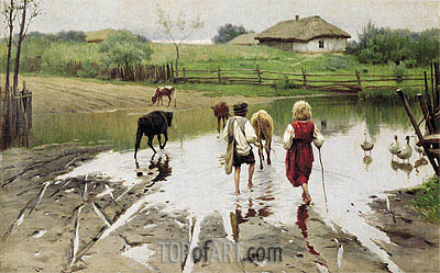 Ford, 1901 | Mykola Pymonenko | Painting Reproduction