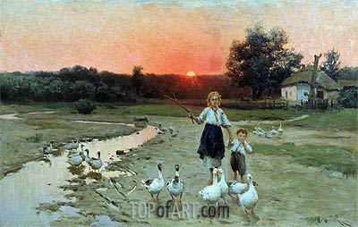 Grow Dark, 1900 | Mykola Pymonenko | Painting Reproduction