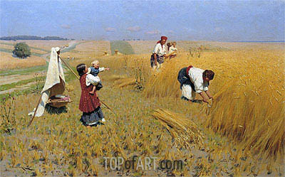 Harvest in Ukraine, 1896 | Mykola Pymonenko | Painting Reproduction