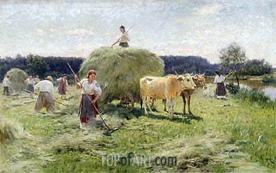 Haymaking,  | Mykola Pymonenko| Painting Reproduction
