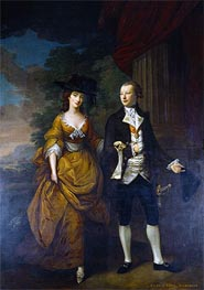 1st Lord Scarsdale and His Wide, Lady Caroline Colyear, 1761 by Nathaniel Hone | Painting Reproduction