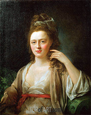 Portrait of a Lady, undated   Nathaniel Hone   Painting Reproduction