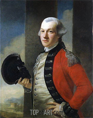 Portrait of Colonel Thomas Aubrey, 1772 | Nathaniel Hone| Painting Reproduction