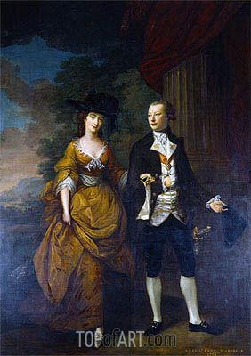 Nathaniel Hone | 1st Lord Scarsdale and His Wide, Lady Caroline Colyear, 1761