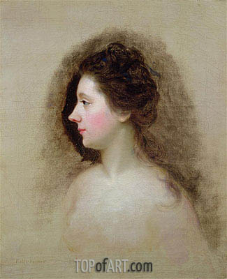 Portrait of Catherine Maria 'Kitty' Fisher, c.1765 | Nathaniel Hone | Painting Reproduction
