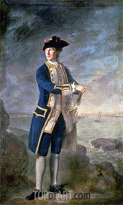 Nathaniel Hone | Captain the Hon. Robert Boyle Walsingham M.P., 1760