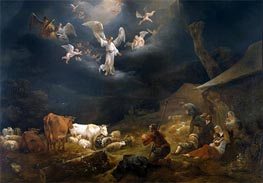 The Annunciation to the Shepherds, 1649 by Nicolaes Berchem | Painting Reproduction