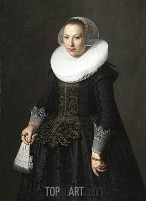 Portrait of a Lady, 1633 | Nicolaes Pickenoy | Painting Reproduction