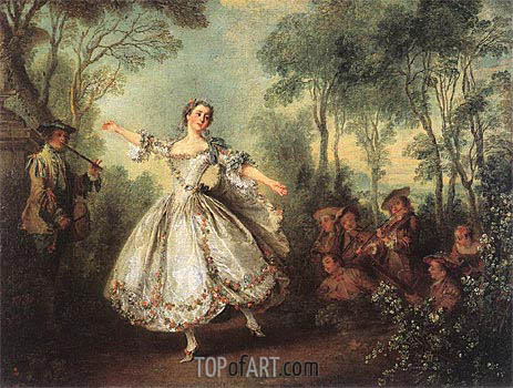 Mademoiselle de Camargo Dancing, 1730 | Nicolas Lancret | Painting Reproduction