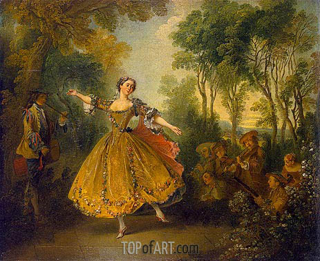 Mlle Camargo Dancing, First half | Nicolas Lancret | Painting Reproduction