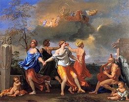 Dance to the Music of Time, c.1634/36 by Nicolas Poussin | Painting Reproduction