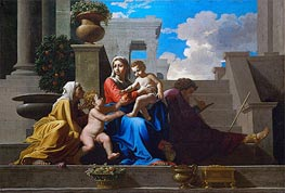 The Holy Family on the Steps, 1648 by Nicolas Poussin | Painting Reproduction