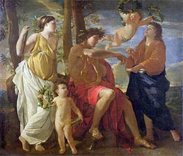 Inspiration of the Poet, c.1627/29 by Nicolas Poussin | Painting Reproduction