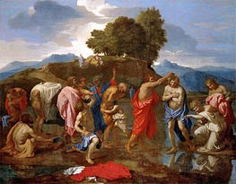 Christ Baptized by St John, c.1638/40 by Nicolas Poussin | Painting Reproduction