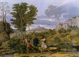 Autumn (The Bunch of Grapes Taken from the Promised Land), c.1660/64 by Nicolas Poussin | Painting Reproduction